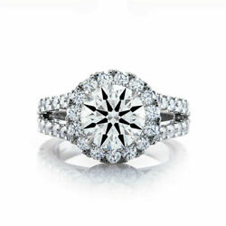 Solid 14k White Gold Excellent Cut 1.10 Ct Real Diamond Wedding Ring Size 6 7 8