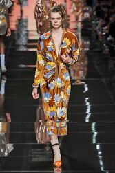 Fendi Floral Print Chenille Midi Dress- With Tags- Rrp4500 Aud