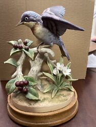 Parula Warbler Bird Figurine By Andrea By Sadek - Excellent Condition