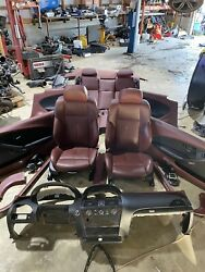 06-10 Bmw 645i 650i M6 E63 Front And Rear Seat Set Coupe Red Leather