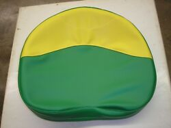 John Deere/oliver Tractor /new /green And Yellow Vinyl Pan Seat Cover /