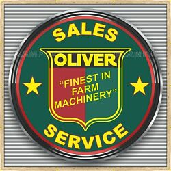 Oliver Tractor Farm Machinery Dealer Style Banner Sign Mural Med L Xl Xxl Sizes