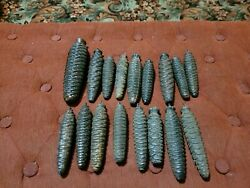 Vintage Cuckoo Clock Parts Pine Cone Weights Lot Of 17
