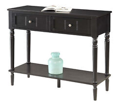 Convenience Concepts French Country 2 Drawer Hall Table With Shelf R3-0160