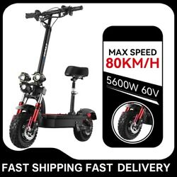 Electric Scooter Foldable 60v 5600w Dual Motor 80km/h Adult E-scooter With Seat