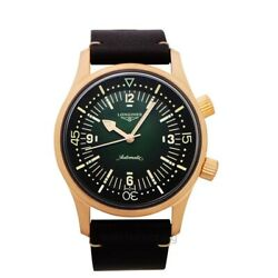 Longines Longines Heritage L37741502 Green Dial Menand039s Watch Genuine Freesandh