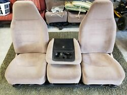 92 96 Ford Truck 40/20/40 Bench To Bucket And Jump Seat Tan Single Or Crew Cab