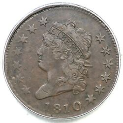 1810 S-283 R-2 Pcgs Vf 35 Classic Head Large Cent Coin 1c