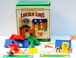 Lincoln Logs 120pc Shady Pine Homestead And 83pc Horseshoe Hill Station Complet