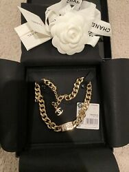 Metal Light Gold Crystal Fall 2021 Necklace Choker Full Set With Receipt