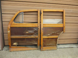 Original Ford 1941- 1948 Super Deluxe Woodie Woody Station Wagon Doors Parts