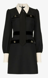 Shirt And Tie Wool Dress- With Tags- Rrp4200 Aud