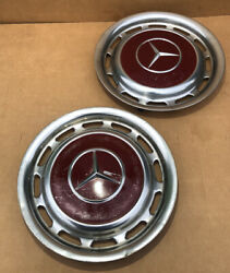 2 Vintage Mercedes Benz Full Wheelcovers For 14 Inch Wheels 60's-early 80's
