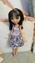Ever After High Doll In Sparkly Dress Cerise Hood Very Gently Used