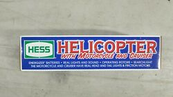 Used 2001 Hess Truck Helicopter With Motorcycle And Cruiser W/ Box