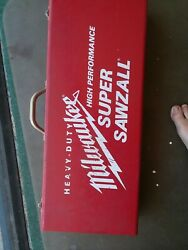 Milwaukee Super Sawzall 6527 With Metal Case And Blades
