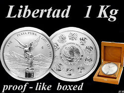 Libertad 2011 Mexico - 1 Kg / Kilo Silver-coin Extremely Rare Proof -like