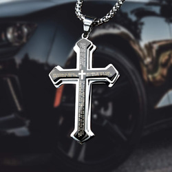 LeapoFaith Pendant Cross for Car Rear View Mirror Hanging Cross Charm for Car Tr $24.69