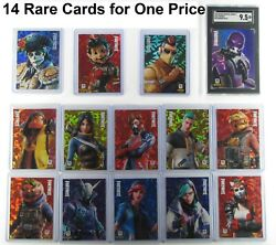 14 Rare Fortnite 2019/20 Series 1 And 2 Cracked Ice Crystal Shard Dante Promo Card