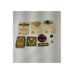 Vintage 1957 Boy Scout And Cub Scout Merit Badges Patches And Pins Lot Troop 64