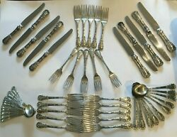 Set Of S. Kirk Sterling Silver Quadrille Pattern Service For 10 50 Pieces