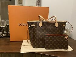 New Louis Vuitton Neverfull Mm - Cherry Interior- Nwt Rare- Sold Out W/pouch