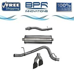 Corsa 304 Ss Cat-back Exhaust System Dual Side Exit For Chevy/gmc 15-20 14748blk