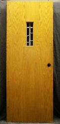 2 Avail 30x78 Antique Vintage Old Wood Wooden Oak Doors Window Stained Glass