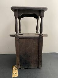 Vintage Small Wood Living Room Double Side Cup Holder Cabinet Smoking End Table
