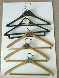 Wooden Advertising Vintage Hangers 3 And 2 Plastic Mens Clothing Stores Michigan