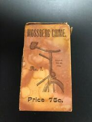 Antique 1899 Mossberg Bicycle Chime Bell Box Very Rare Bike Collectible