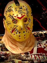Jason Voorhees Beckett Jsa Friday The 13th Autographed Hockey Mask W/ Bust Racc