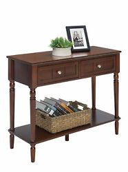 Convenience Concepts French Country 2 Drawer Hall Table With Shelf R3-0174