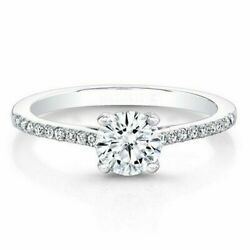 White Gold Finish 0.71 Ct Round Diamond Wedding Rings Sterling Silver Size 7 8 9