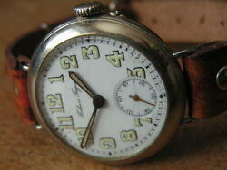 Imperial Russia P. Buhre Officer Trench Wrist Watch Enamel D. Orig.cond. Ww1