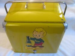 Advertising Vintage Soda Squirt Cooler Refrigerator With Decal Boy 1950's