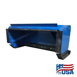 5and039 Skid Steer Snow Pusher Box/back Drag/bobcat/kubota/quick Attach/free Shipping