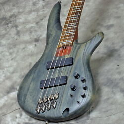 Ibanez Bass Workshop Series Srff800 Black Stained Used 2016 Ash Body W/soft Case