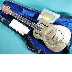 National Raw Brass Acoustic Guitar