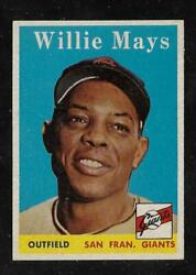 Awesome Cigar Box Find6 1958 Topps 5 Willie Mays Dead Centered Tough Card