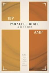 Kjv, Amplified, Parallel Bible, Large Print, Hardcover, Red Letter Edition ...