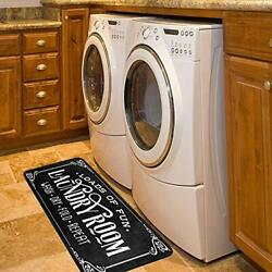 Laundry Room Rug Washing Machine Room Farmhouse Runner Rugs Non 39andtimes20in Black