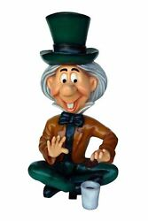 Giant Mad Hatter Sitting Having A Cookie Life Size Statue
