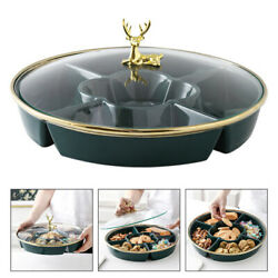 1pc Multi-grid Durable Serving Tray For Home Restaurant Hotel