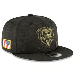 Brand New Chicago Bears New Era Salute To Service Sideline 9fifty Snapback Hat