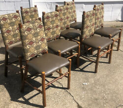 8 Old Hickory Furniture Chairs Shelbyville Indiana -lodge - Camp Adirondack