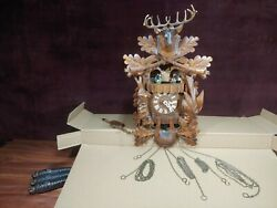 Vintage 1 Day Cuckoo Clock W/ Dancing Couples And Cuendet Music  Germany Parts