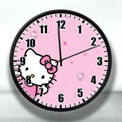 Hello Kitty Wall Clock Nice For Gifts or Decor kitty white 9quot;