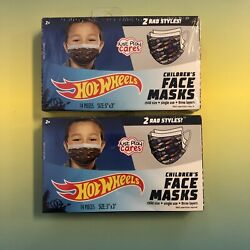 Hot Wheels Cars Brand Child Kids Size Fabric Face Mask 2 Styles 2 Boxes 28 Masks