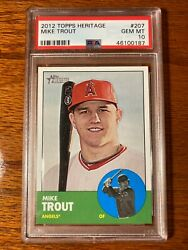 2012 Topps Heritage Mike Trout 207 Psa 10 - Gem Mint